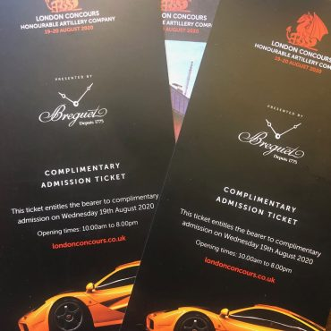 Ticket giveaway for London Concours from Great British Motor Shows